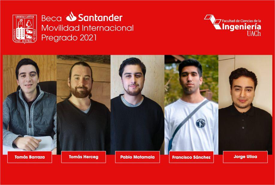 Cinco estudiantes de la FCI se adjudicaron Beca Santander Movilidad Internacional